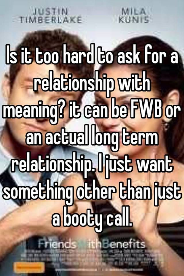 Meaning of fwb relationship