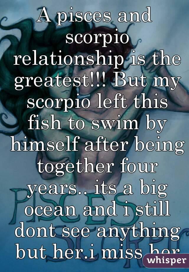 Pisces scorpio dating