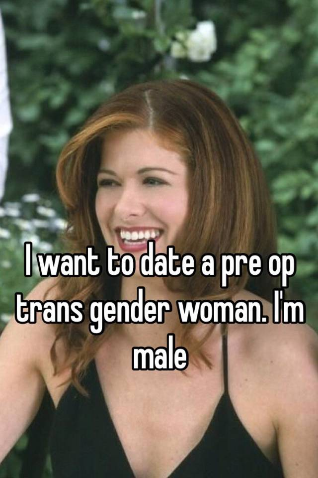 Pre operative transsexual woman