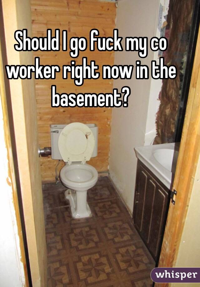Should I go fuck my co worker right now in the basement?
