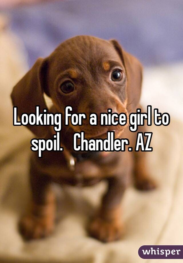 Looking for a nice girl to spoil.   Chandler. AZ