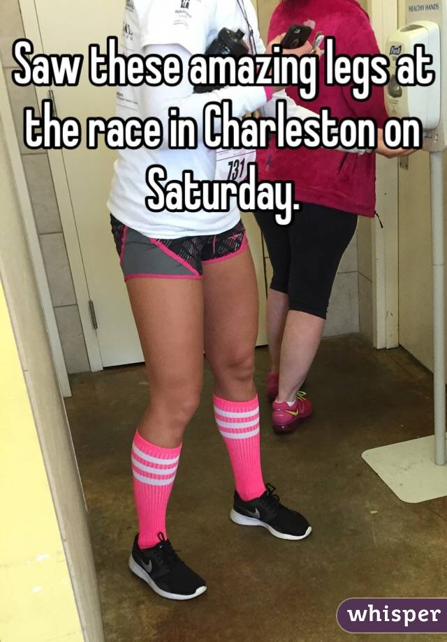 Saw these amazing legs at the race in Charleston on Saturday.