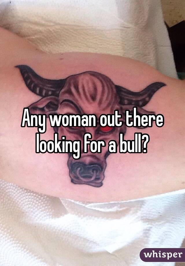 Any woman out there looking for a bull?