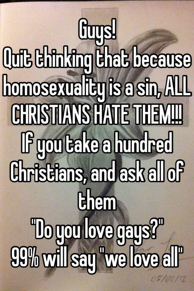 Homosexuality is a sin period