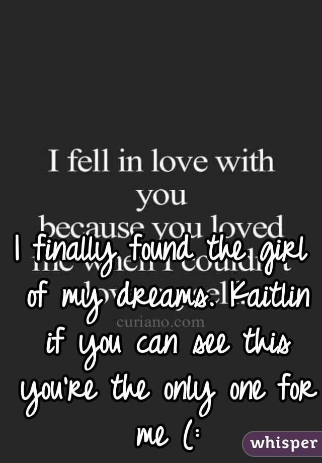 You Are The Only Girl For Me