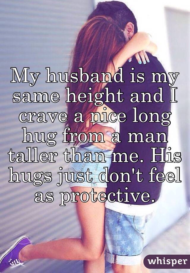 how to hug a guy taller than you