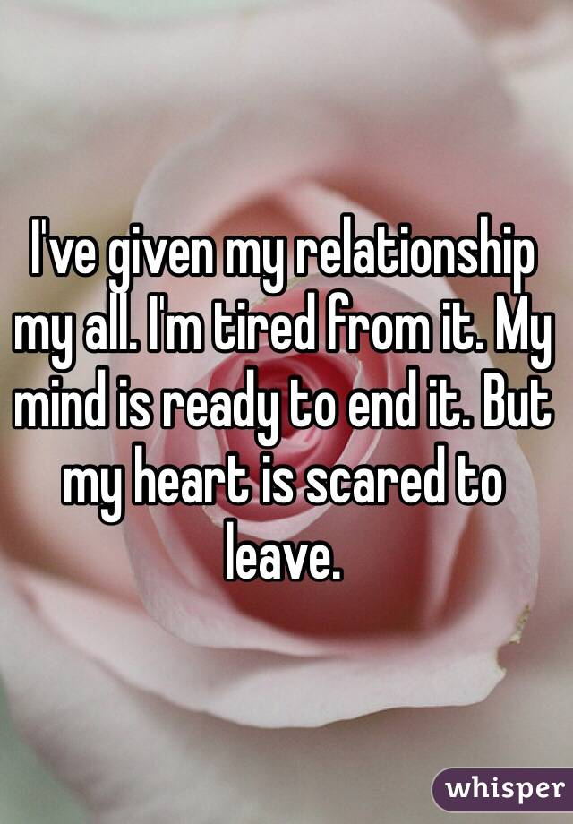 scared to leave a relationship