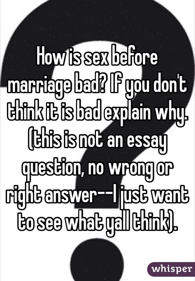 Sex out of marriage worng