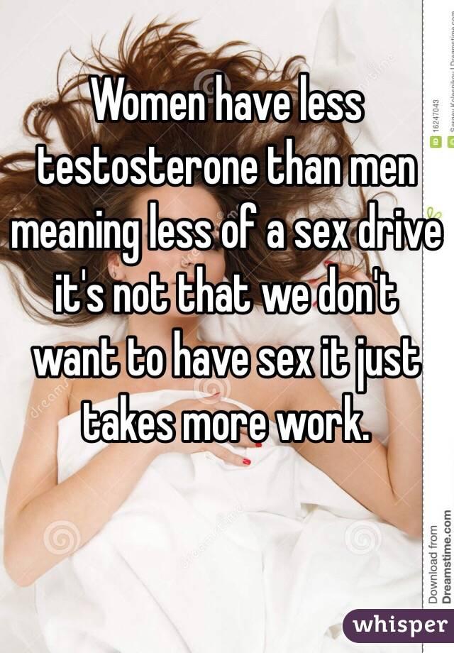 Womens sex drive less than mens