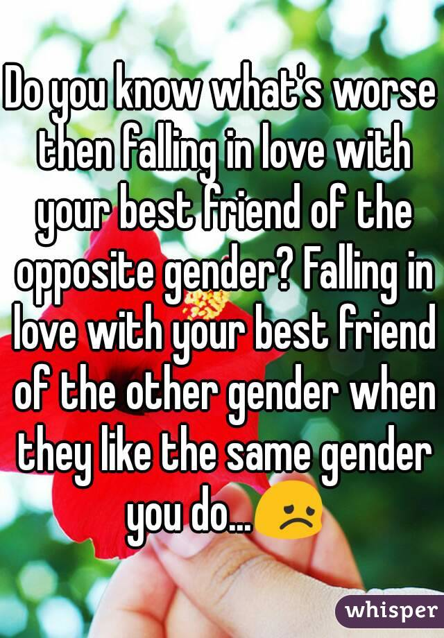 Falling in love with the same sex best friend