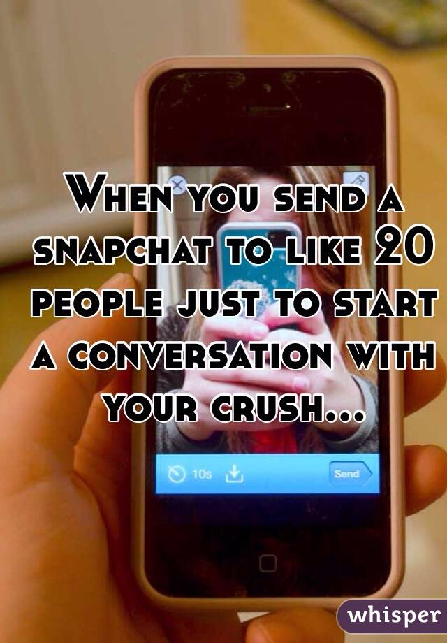 How to start a conversation with your crush on snapchat