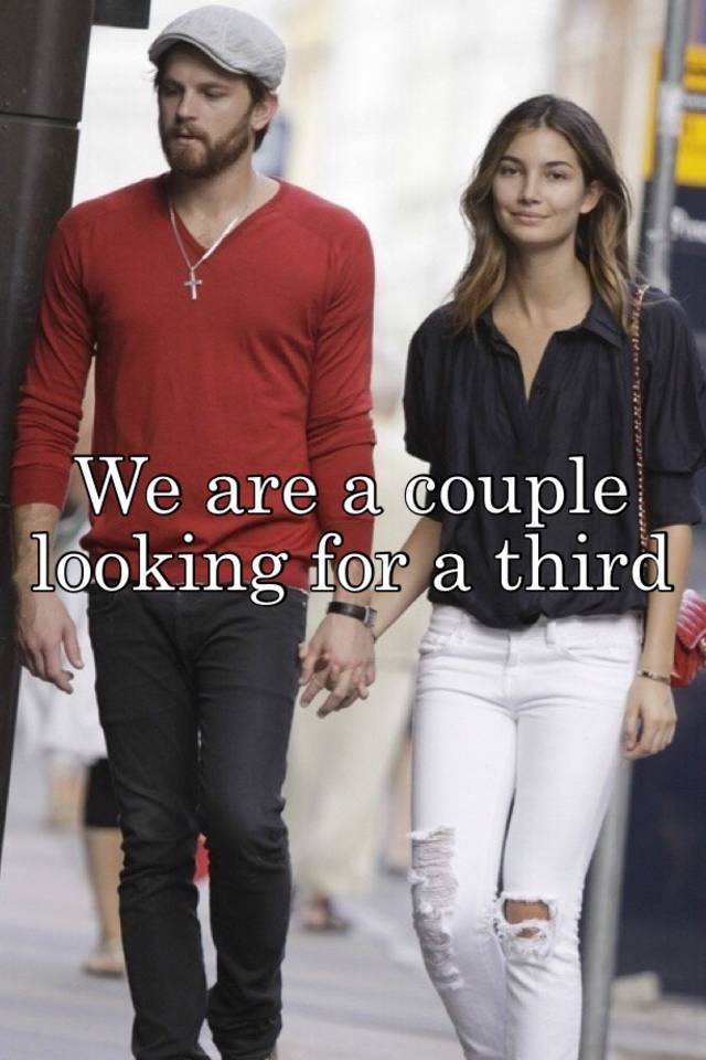 Couples looking for a third male