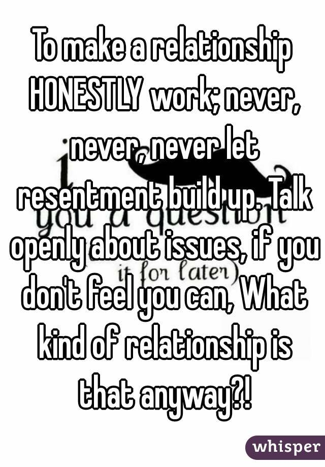 How to get over resentment in a relationship