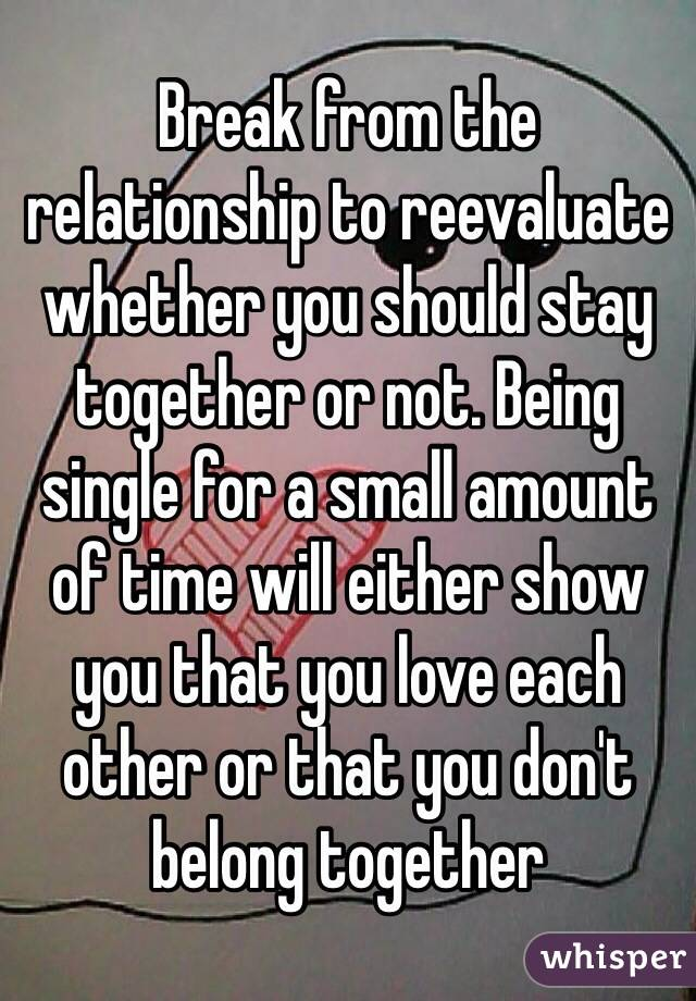 Whether to stay in a relationship or not