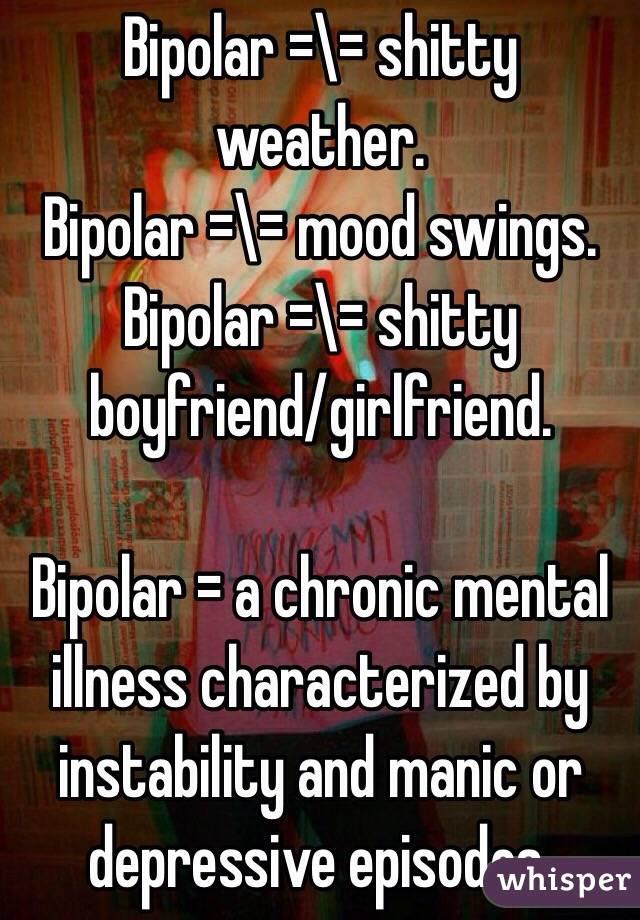 Girlfriend mood swings