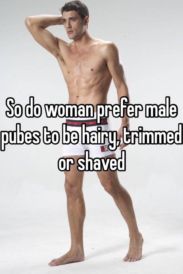 Shaved pubes male