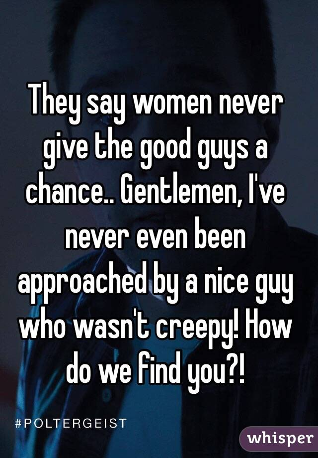 How to find a nice guy