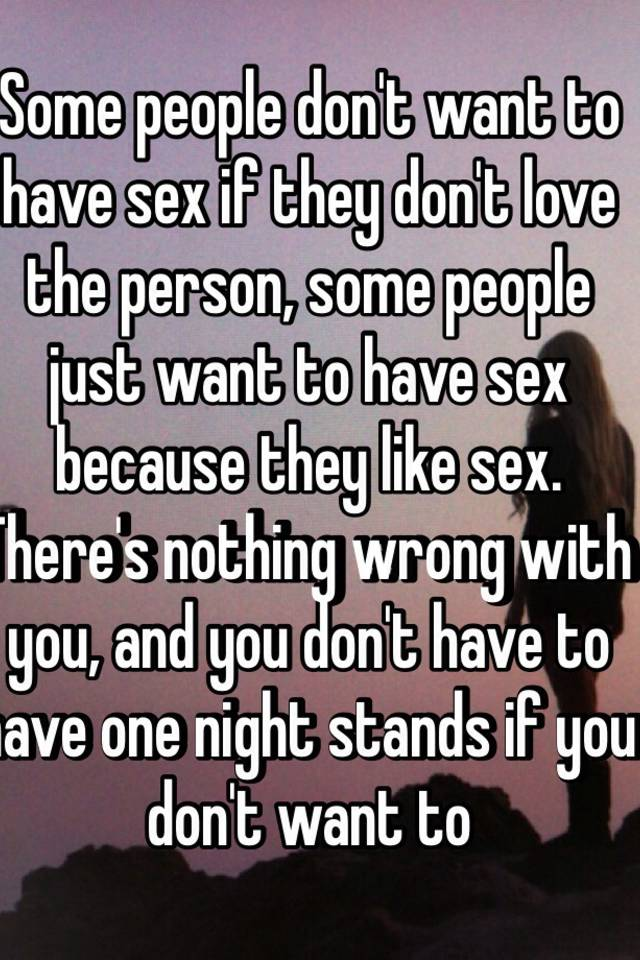 People that want to have sex