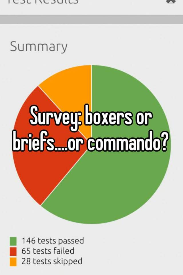 Boxers or briefs survey