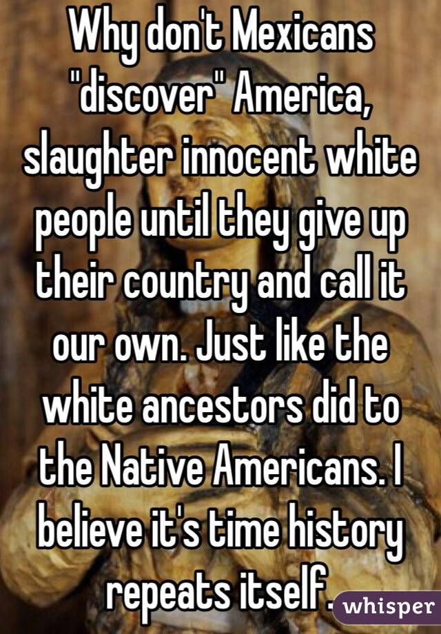 the history of the native americans and the debt of the white americans The cheyenne chief black kettle, a major advocate for peace and coexistence between white settlers and native americans, was twice attacked by american troops despite explicit agreements of non-hostility, resulting in the death and mutilation of him and at least two hundred cheyenne villagers.