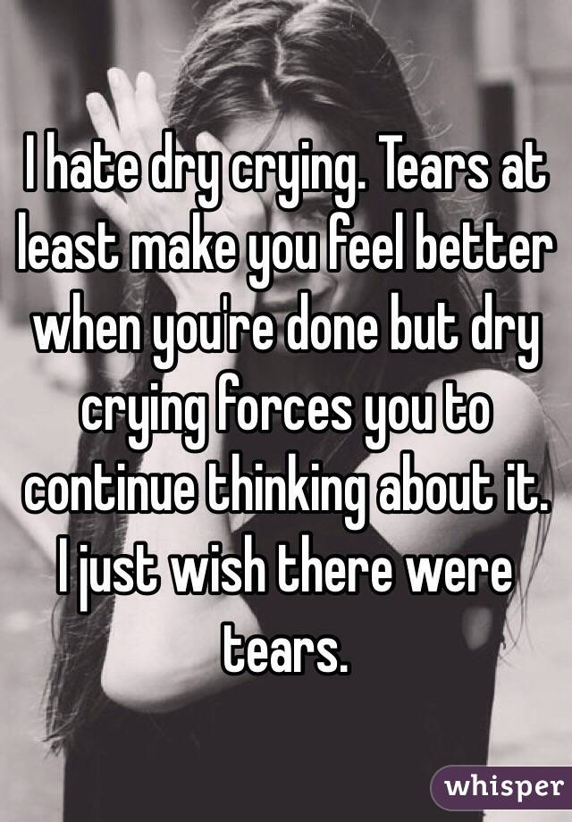 how to feel better after crying