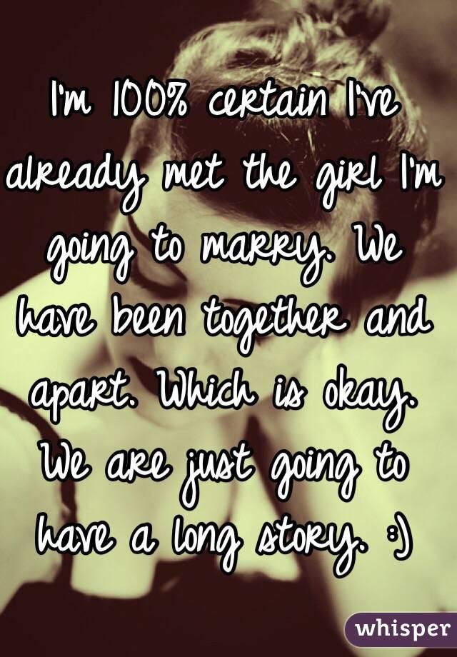 その女の子と結婚するつもりだ