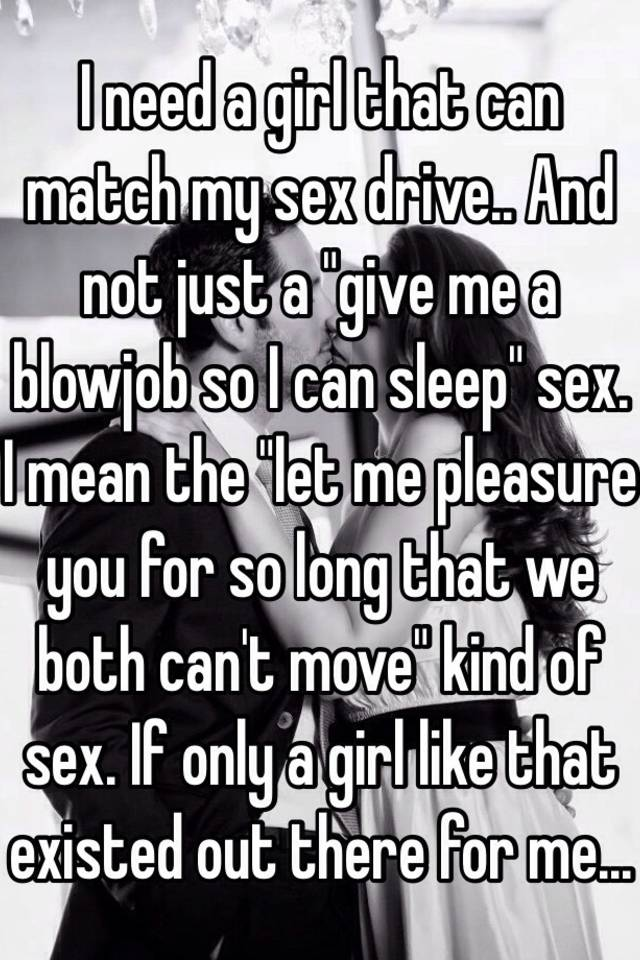 When you sex drive doesnt match