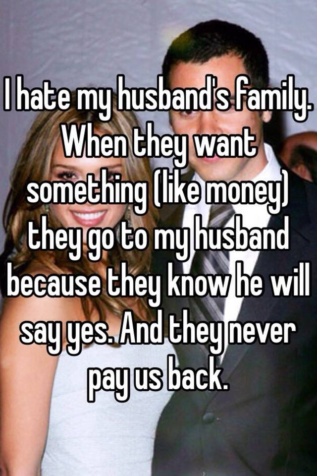 hate my husbands family