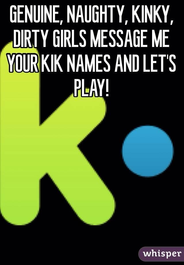 Dirty Female Kik Names