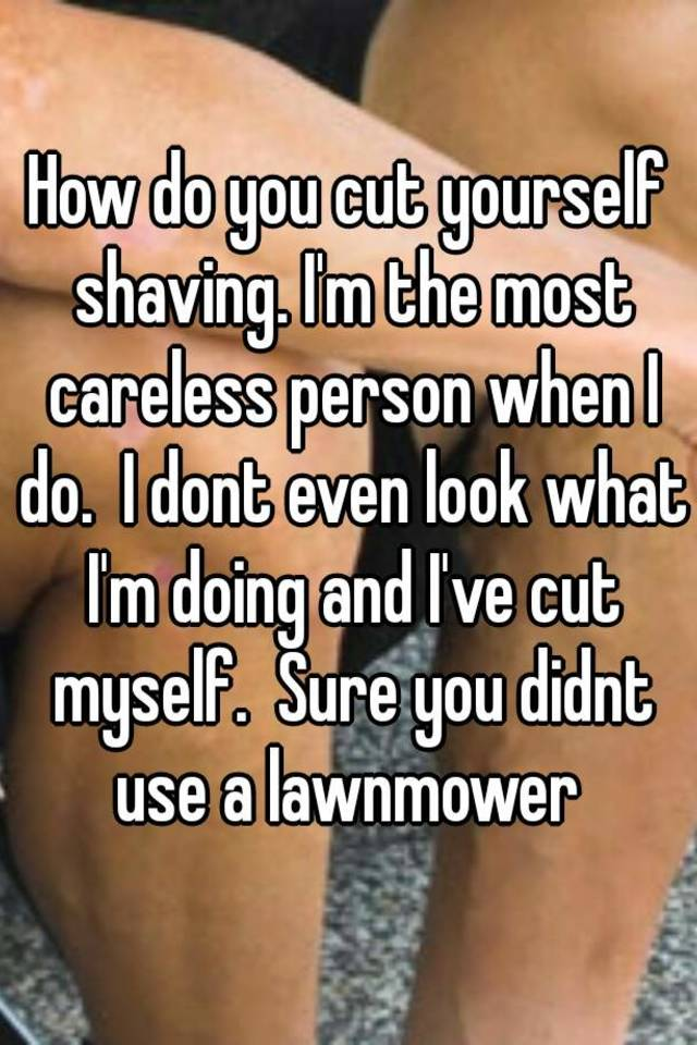 what to do if you cut yourself