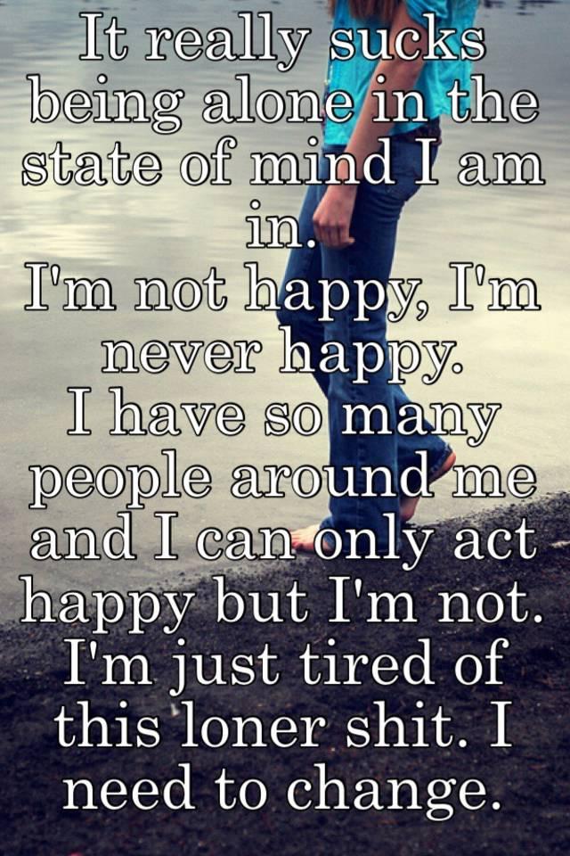 why am i so happy being alone