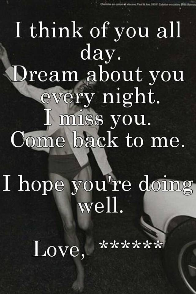 every night i think of you