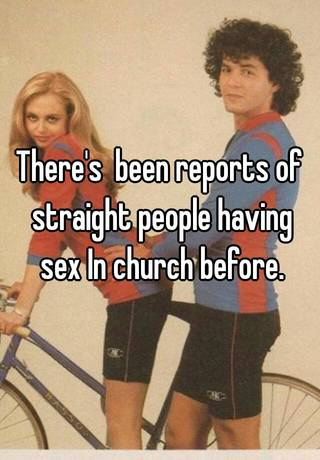 People having sex at chruch