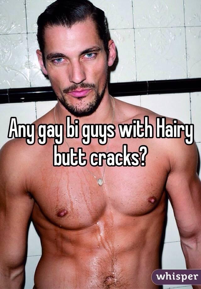 Any gay bi guys with Hairy butt cracks?