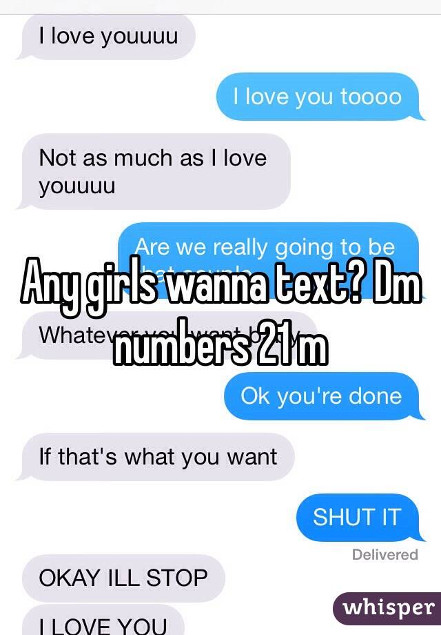 Numbers to text girls