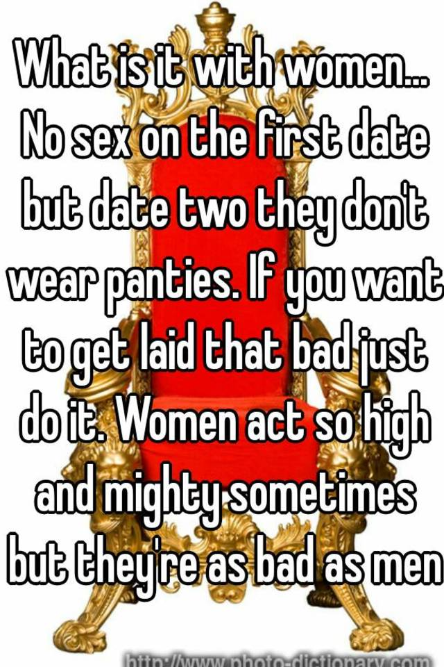 Get laid on the first date