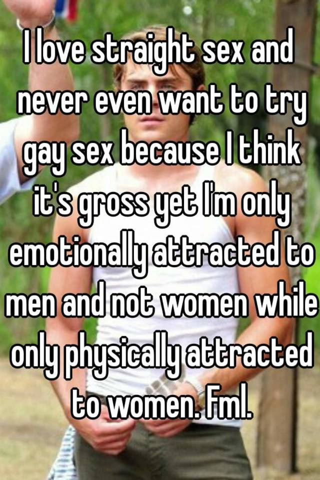 Want to try gay sex