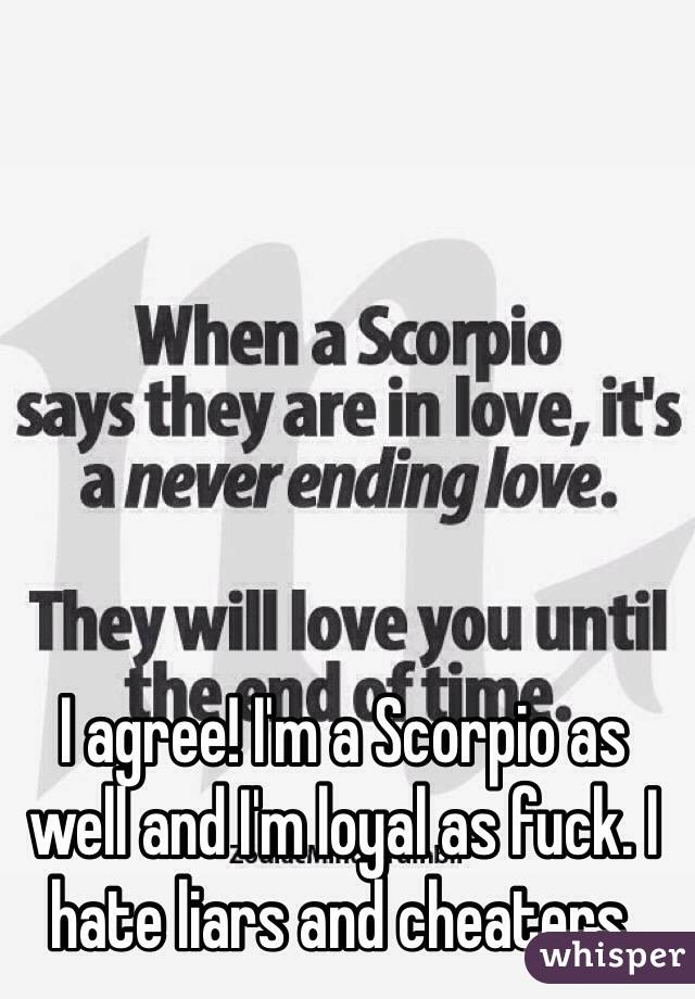 Scorpios cheaters