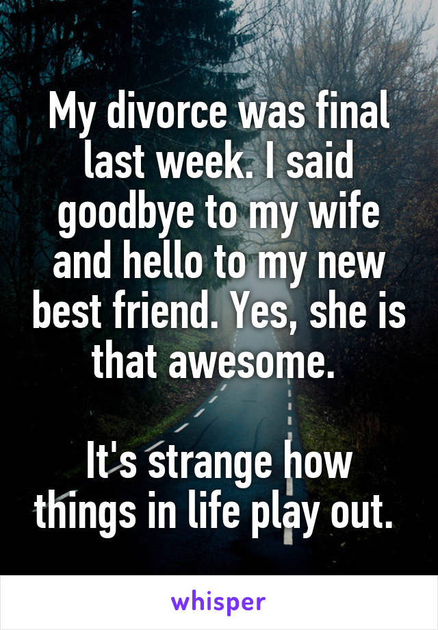 Divorcing my wife was the best thing
