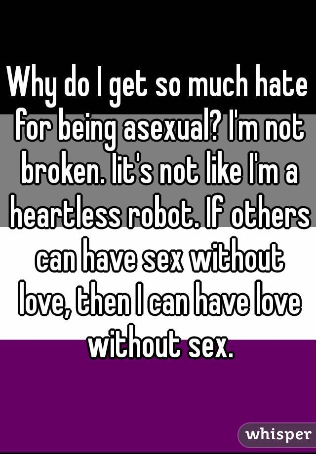 Being asexual
