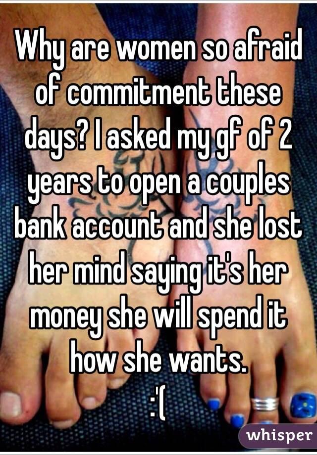 ガールフレンドはコミットメントを恐れ