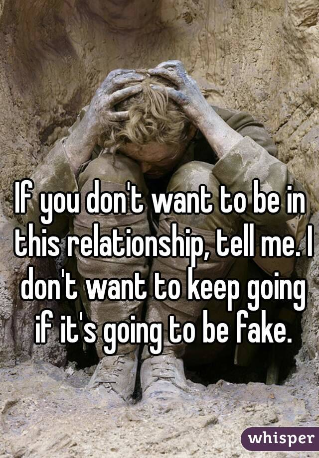 Are You a Fake Relationship?