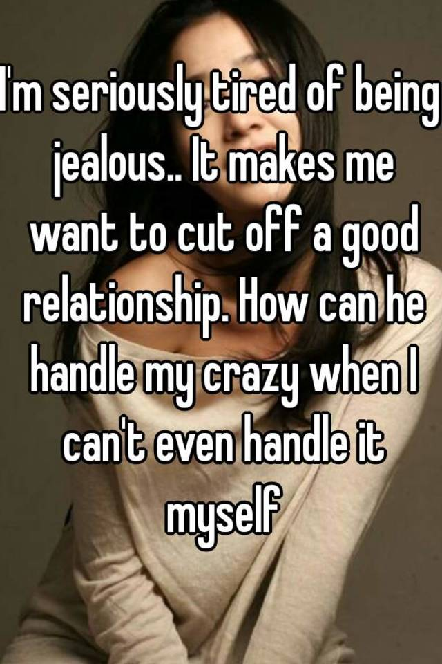 Being jealous in a relationship
