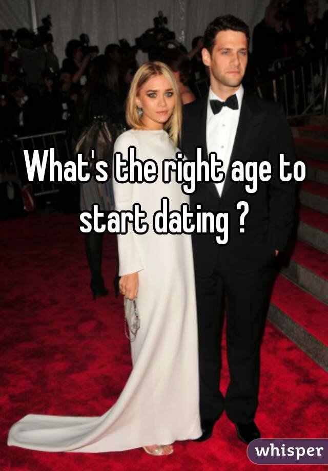 what is the right age to start dating