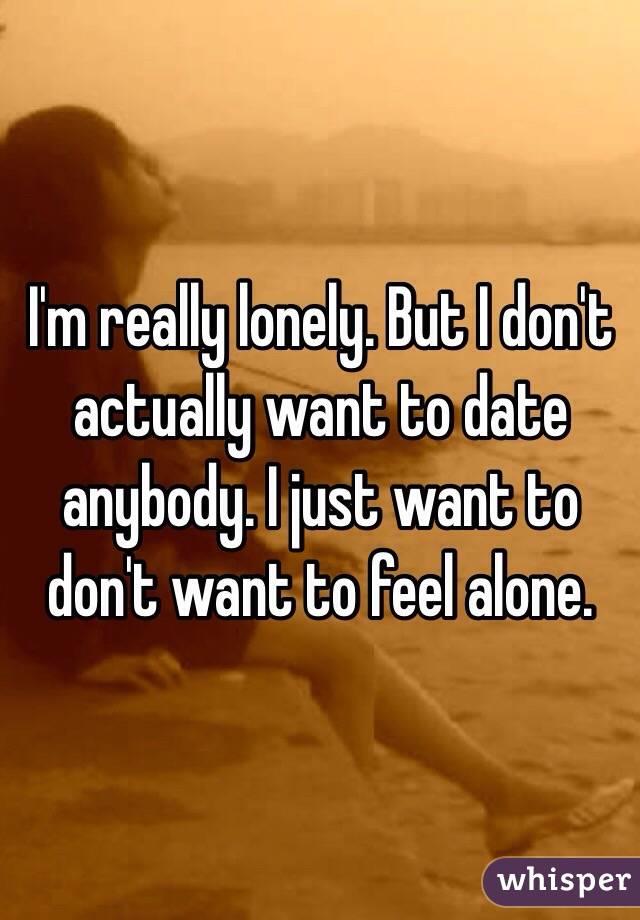 私は本当に寂しい