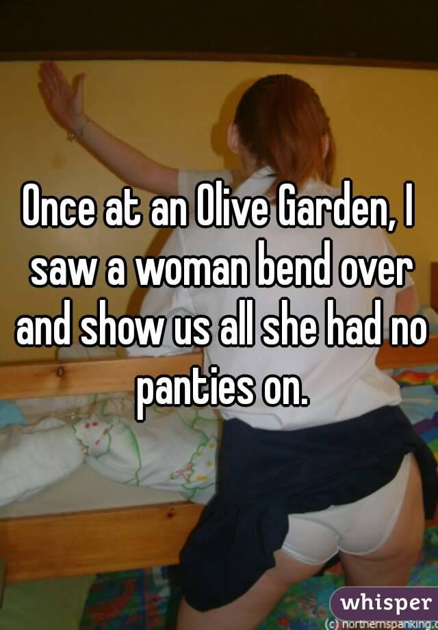 Bending over showing panties