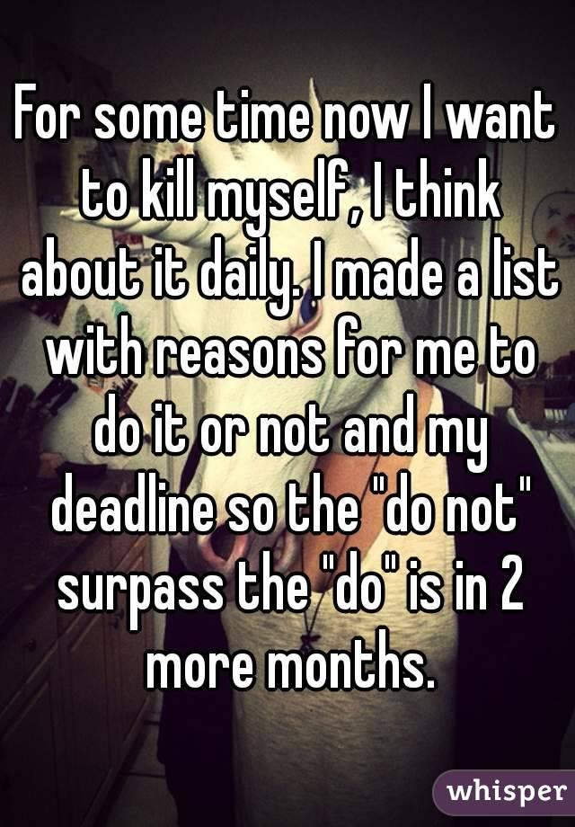 reasons not to kill self