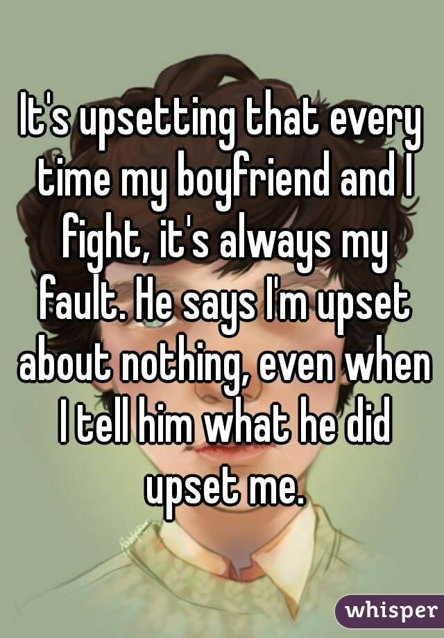 why do i keep arguing with my boyfriend