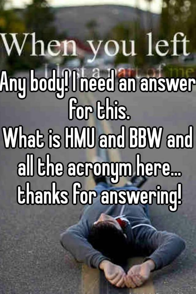 Bbw acronym
