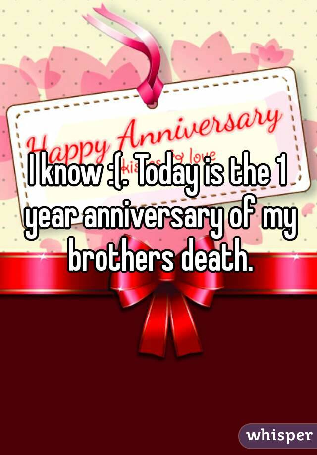 anniversary of my death